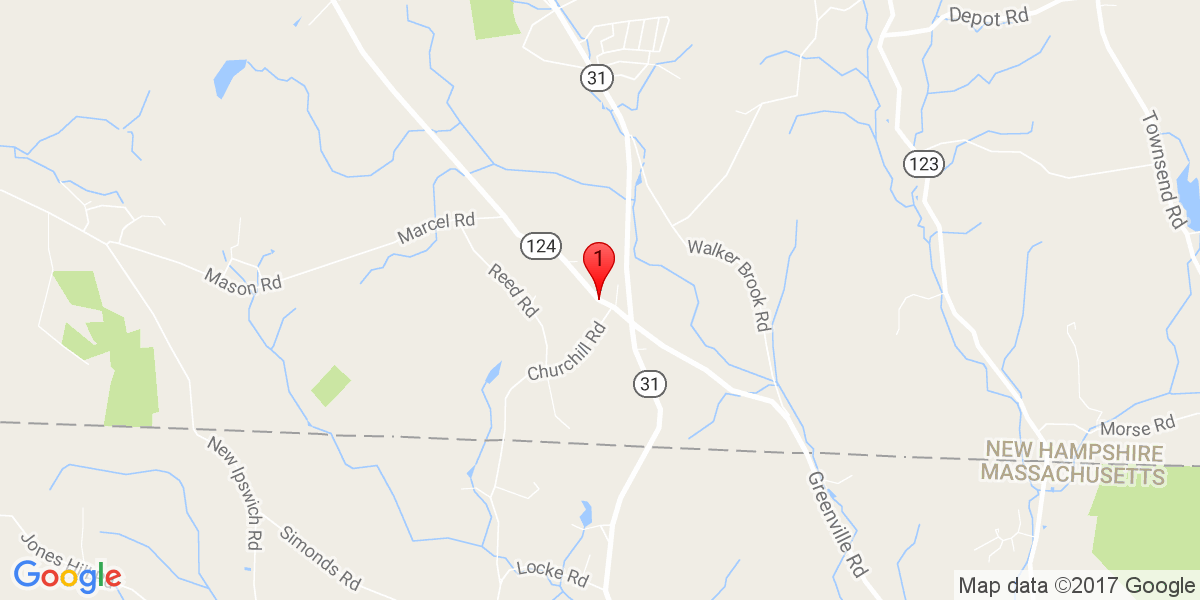 Google Map of 93 Old Turnpike Road, Mason NH 03048